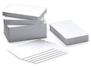 Tarjeta PVC blanca